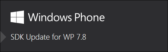 SDK Windows Phone 7.8