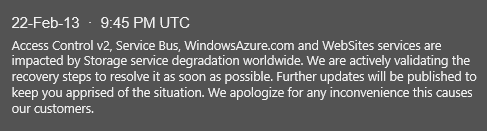 Azure Outage